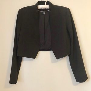 WHBM Cropped Open Bolero Jacket
